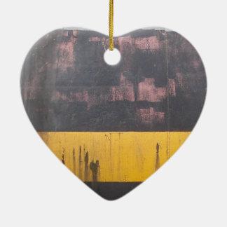 Vintage band ceramic heart decoration