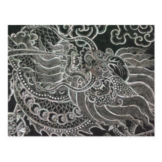 Vintage Bangkok Dragon Postcard