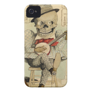 Vintage Banjo Playing Skeleton Case-Mate iPhone 4 Case