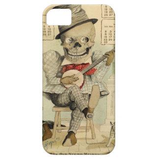 Vintage Banjo Playing Skeleton iPhone 5 Cases
