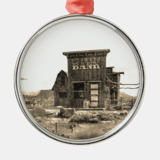 Vintage Bank Building Christmas Ornament
