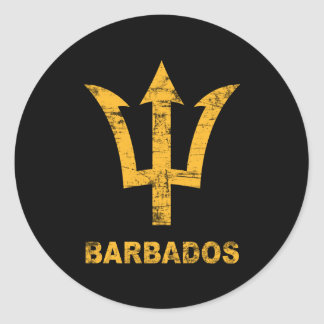 Vintage Barbados Classic Round Sticker