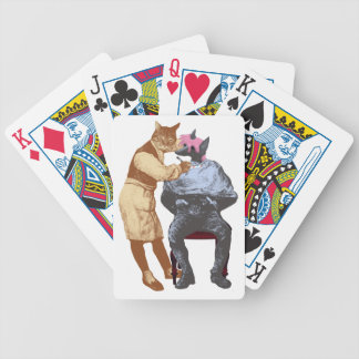 Vintage Barber Cat and Dog Bicycle Playing Cards