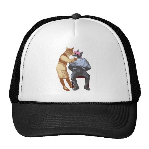 Vintage Barber Cat and Dog Mesh Hats