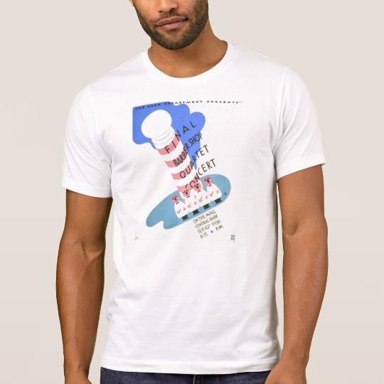 Vintage Barber Shop Quartet Concert WPA Poster T-Shirt