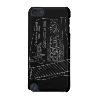 Vintage Barber Shop Sign in Black and White iPod Touch (5th Generation) Case
