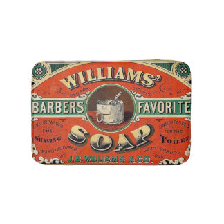 Vintage Barber Soap Small Bath Mat Bath Mats