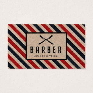 Vintage Barber Stripe Business Card