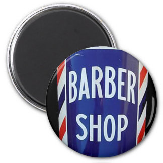 Vintage barbershop sign magnet