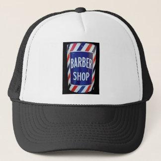 Vintage barbershop sign trucker hat