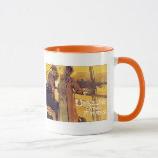 Vintage Barcelona Ciudad Mug