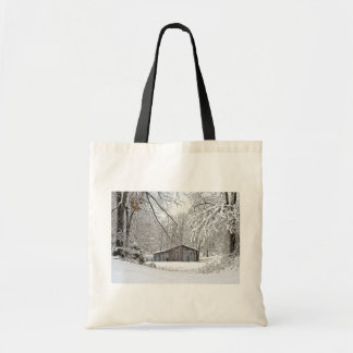Vintage Barn in Fresh Snow - Rural Tennessee Tote Bag