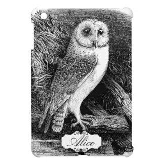 Vintage barn owl illustration iPad mini covers