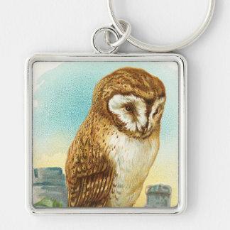 Vintage Barn Owl Key Ring