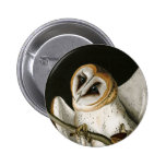 Vintage Barn Owls Illustratation (Audubon) Pinback Buttons