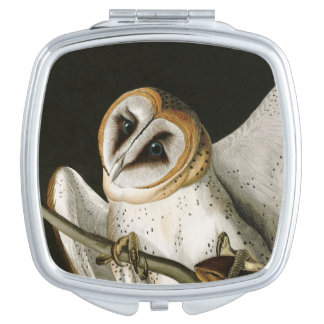 Vintage Barn Owls Illustratation (Audubon) Mirrors For Makeup