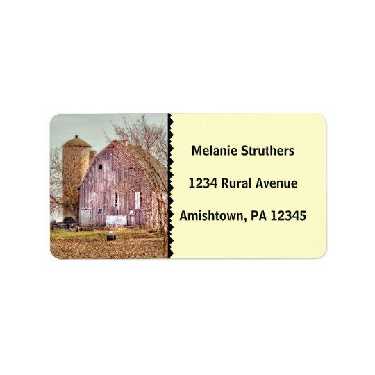 Vintage Barn & Silo Address Label