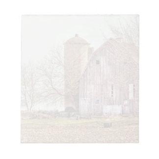 Vintage Barn & Silo Notepad