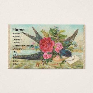 Vintage Barn Swallow Delivers An Envelope