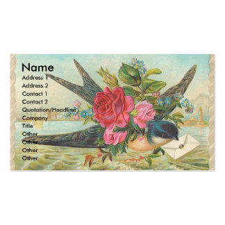 Vintage Barn Swallow Delivers An Envelope Pack Of Standard Business Cards