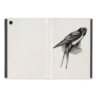 Vintage Barn Swallow Swift Bird Illustration Cover For iPad Mini