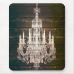 Vintage Barn Wood Chandelier Wedding Mouse Pad