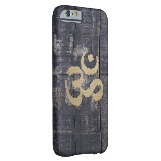 Vintage Barn Wood Gold Om Sign Yoga Barely There iPhone 6 Case