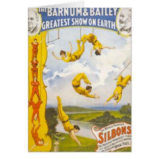 Vintage Barnum and Bailey Circus Greeting Card