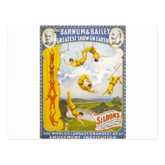 Vintage Barnum and Bailey Circus Postcard