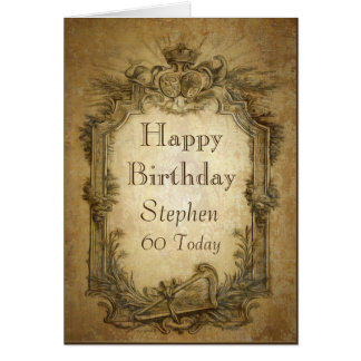 Vintage Baroque Birthday Card