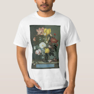 Vintage Baroque, Bouquet of Flowers in Glass Vase Tee Shirts