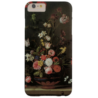 Vintage Baroque Floral Still Life Flowers in Vase Barely There iPhone 6 Plus Case