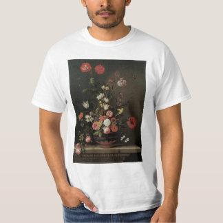 Vintage Baroque Floral Still Life Flowers in Vase T-shirt