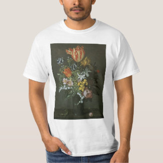 Vintage Baroque, Floral Still Life Flowers in Vase Tee Shirt