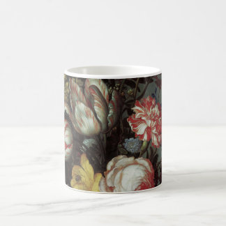 Vintage Baroque Flowers by Balthasar van der Ast Basic White Mug
