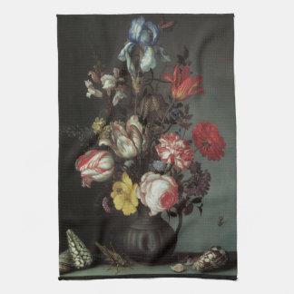 Vintage Baroque Flowers by Balthasar van der Ast Kitchen Towels