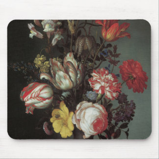 Vintage Baroque Flowers by Balthasar van der Ast Mouse Pad