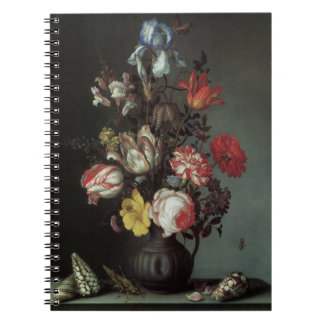 Vintage Baroque Flowers by Balthasar van der Ast Note Book