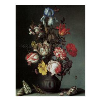 Vintage Baroque Flowers by Balthasar van der Ast Postcard