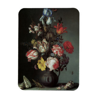 Vintage Baroque Flowers by Balthasar van der Ast Rectangular Photo Magnet