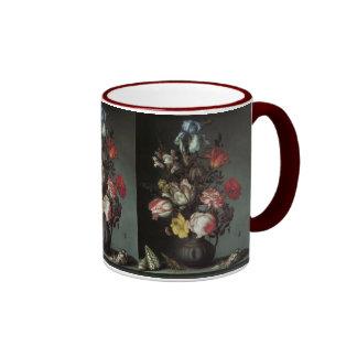 Vintage Baroque Flowers by Balthasar van der Ast Ringer Mug