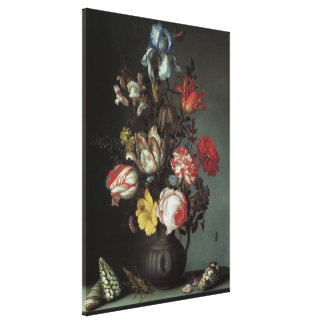 Vintage Baroque Flowers by Balthasar van der Ast Stretched Canvas Prints
