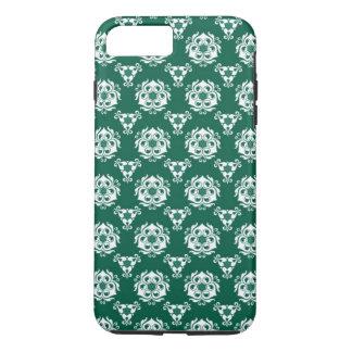 Vintage Baroque Green White Floral Pattern iPhone 7 Plus Case