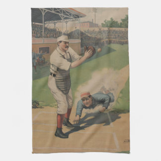 Vintage Baseball American MoJo Kitchen Towel