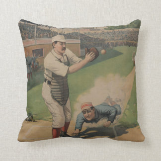 Vintage Baseball American MoJo Pillow