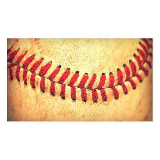 Vintage baseball ball business card