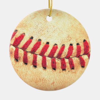 Vintage baseball ball christmas ornament