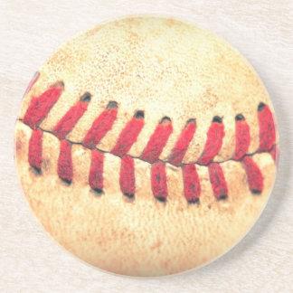 Vintage baseball ball coaster