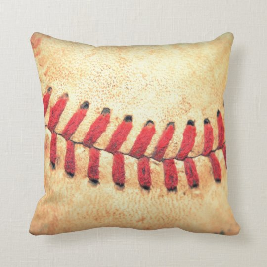Vintage baseball ball cushion