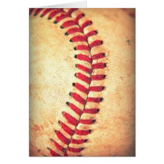 Vintage baseball ball greeting card